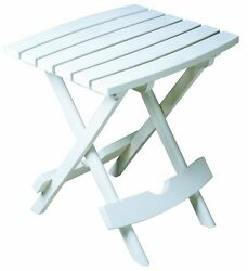 Quik-Fold Side Table Ideal Size For Patio Chairs Adirondacks Chaise Lounges NEW