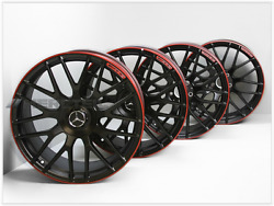 Mercedes-Benz Original AMG Forged wheel set(4pcs) with red edge C class W205