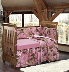 Camouflage Baby Stuff Crib Bedding Sets For Giirl Pink Camo Items Shower Gift