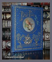 Peter Pan by Barrie Illustrated New Sealed Leather Bound Collectible Hardcover