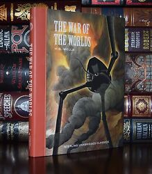 War of the Worlds by H.G. Wells Unabridged Illustrated New Hardcover Gift $19.56