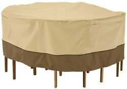 Medium Round Outdoor Patio Table and Chair Accessories Furniture Set Cover