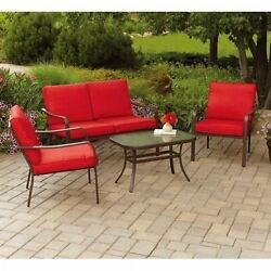 Patio Conversation Set Outdoor Table Chairs Sofa Pool Deck Porch Lawn Furniture