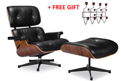 HIGH-END Eames Lounge Chair and Ottoman Replica Premium Leather Colors choice