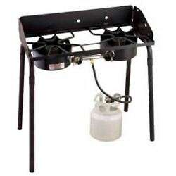 Camp Chef Outdoor Propane Two 30000 BTU Burners Double High Burner Camp Stove