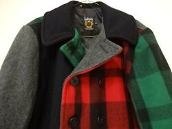 EXCELLENT CONDITION  USED ONCE SCHOTT WOOL PEA COAT FOR BARNEYS NEW YORK MEN XL
