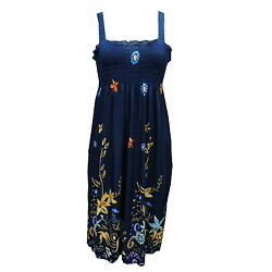 NEW Dress Beach Party Boho Sundress Casual Stretch  Style : E2