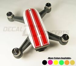 DJI Spark Gloss RED Racing Stripes Graphic Wrap kit - Decal Skin Sticker