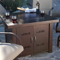 Patio Fire Pit Table Gas Propane Outdoor Backyard Heater Antique Bronze Finish