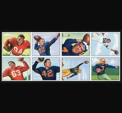 1950 Bowman Factory 8-card Football sheet - 4 Hall of Famers - 4 Rookies - NM-MT