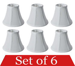 Set of 6 Clip On 5quot; Small Bell Candelabra Shades for Chandelier White $29.96
