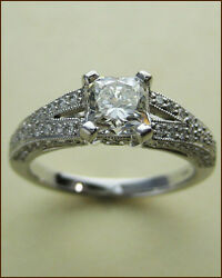 Hearts on Fire 18k Illustrious Ring with .92 ct. Dream Diamond - NEW - $12500