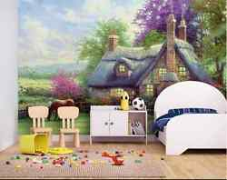 3D Dream Horse Forest Cottage Wall Paper Wall Print Decal Wall Deco AJ WALLPAPER