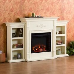 White Electric Fireplace 70