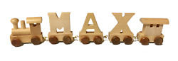 Brand New Wooden Letter Name Trains - create custom names or phrases!
