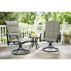 Hampton Bay Statesville Padded Sling Patio Lounge Swivel Chairs (2-Pack) hd1 427