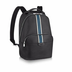 Louis Vuitton Auth M34405 Backpack ANTON Ardoise Taiga Leather Mens FS New #0473