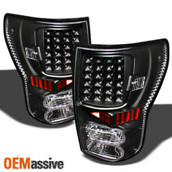 Fits Black 07-13 Toyota Tundra Full LED Tail Lights Lamps Left+Right Pair Sets $134.96