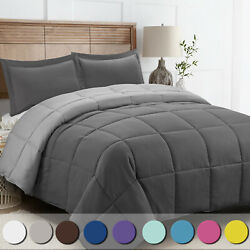 Down Alternative Comforter Set 3 Pcs with Shams All Season Reversible Comforter  $42.99