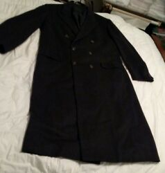 BRIONI Black 100% Cashmere Double breasted Full Length Overcoat Coat 50