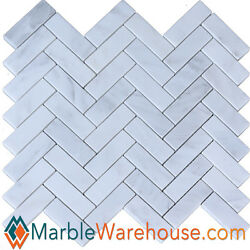 Calacatta Chiara herringbone Marble Mosaic Tile for backsplash Wall Floor