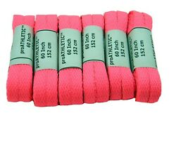 SAVE 6 pack Chuck Style Bright NEON shoelaces 8mm wide flat runner shoestrings!