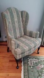 Pair Ethan Allen Wing Chairs