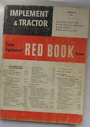 Vintage Implement and Tractor Red Book Vol.76 No. 3 January 25 1961 - Moline +