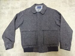GREAT CONDITION NOT MUCH USED VINTAGE PENDLETON WOOL JACKET MADE IN USA MEN M