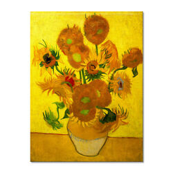 Van Gogh Painting Repro Canvas Print Picture Home Decor Wall Art Sunflower Gold