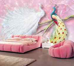 3D Two color peacock 2874 Wall Paper Wall Print Decal Wall DecoAJ WALLPAPER