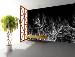 3D White leafless trees 2398 Wall Paper Wall Print Decal Wall Deco AJ WALLPAPER