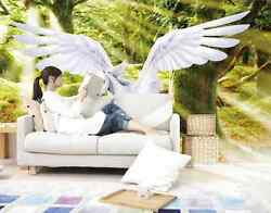 3D Woods white winged horse 9 Wall Paper Wall Print Decal Wall DecoAJ WALLPAPER