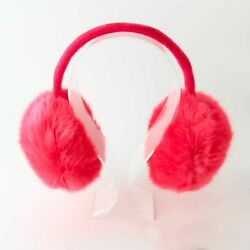 Brown or Pink Pom Pom Earmuffs with Headphones for Fall & Winter