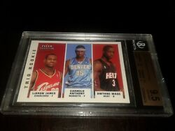 2003-04 Fleer Crystal LeBron JamesWadeAnthony rookie 4350-Bgs 9.5 Super rare