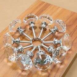 10005003020 Crystal Glass Cabinet Knob Diamond Shape 30mm Drawer Handle Pull