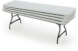 Picnic Table Outdoor Yard Garden Patio Chair Seating 8 Folding Table White