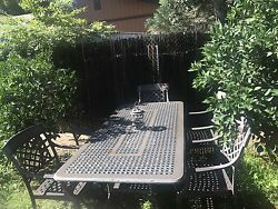 Patio Furniture Sale Wrought Iron Dining Set 6 Piece With Table Chairs