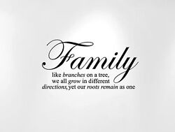 Innovative Stencils Family Like Branches on a Tree... Wall Decal Sticker Quot...