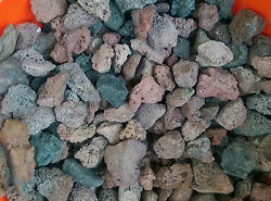 10 lbs Red and Black Lava Rock bbq gas grill fireplace aquariums 1.5