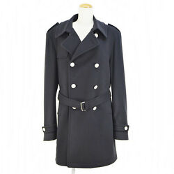 TAGLIATORE HOLMES Trench Coat Wool & Cupra Navy 35UIC053 Size 50(L) mens Used (A