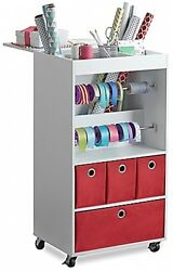 Real Simple Home Gift Wrap Cart Organizer