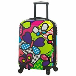 Mia CarryOns Toro Butterflies Hardside Spinner Carry-on Contemporary