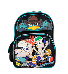Disney 16quot; Phineas and Ferb Perry School Boys Backpack Agent P $24.99
