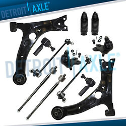 For FWD 2003 - 2008 Matrix Vibe 12pc Front Lower Control Arms Tie Rods Sway Bars