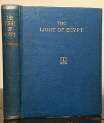 1895 - THE LIGHT OF EGYPT or THE SCIENCE OF THE SOUL & STARS - THOMAS BURGOYNE