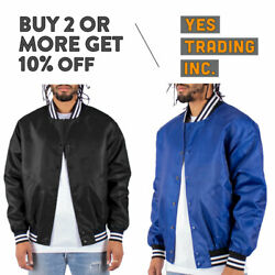 MENS CASUAL VARSITY JACKET BOMBER JACKET HIP PLAIN LETTERMAN JACKET WINDBREAKER $28.95