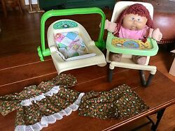 Vintage 1983 Cabbage Patch Baby Furniture Lot ~ Baby Carrier High Chair Doll