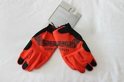 New Women#x27;s Giro Candela Gel Winter Gloves Full Finger Cycling Large Red Orange $9.00