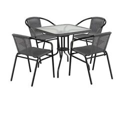 Small Outdoor Furniture Set Balcony Table And Chairs Deck Dining Patio Garden